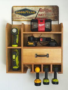 Cordless Drill Storage/Charging Station
