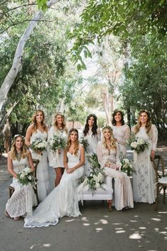An Intertwined Event: Boho Chic Wedding at Calamigos Ranch Bridal Party, White Dresses, Free People, Boho Dress, Wedding Inspo, Bride