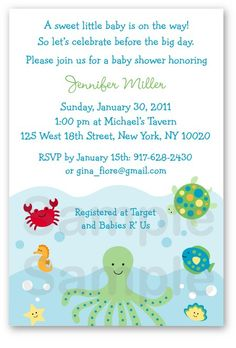 Orange Little Man Mustache Baby Shower Invitation  Orange