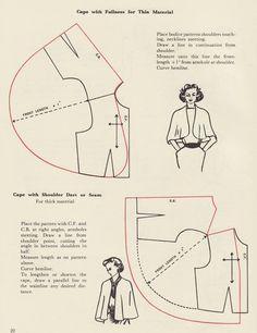 Image result for vintage cape sewing pattern