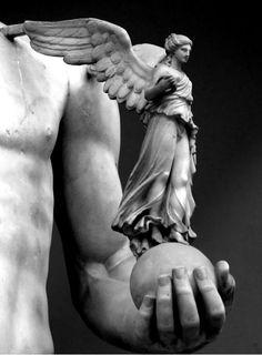 Statue, Vatican Museum - detail Nike