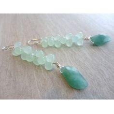 Green Jade Earrings - $29.00