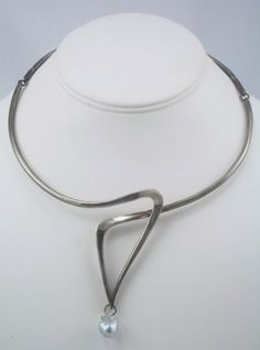 Necklace | Jack Nutting. Baroque Pearl, Forged Sterling Wire. ca. 1959