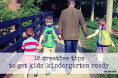 12 really smart tips to help get kids ready for kindergarten or even preschool.