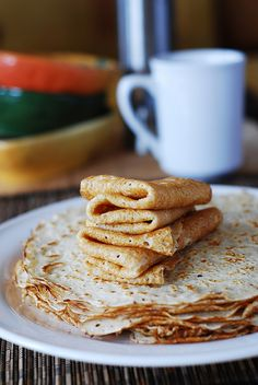 Homemade vanilla crepes | JuliasAlbum.com | #breakfast #dessert #French