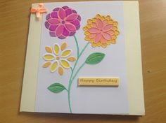 Joys of Spring Handmade birthday card £1.60
