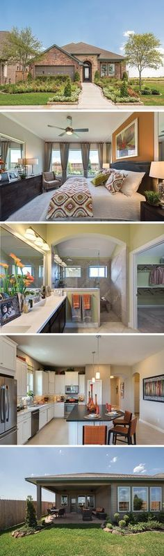 The Kepley by David Weekley Homes in Miramesa is a 3 or 4 bedroom home that features an open kitchen and family room plan, a large owners retreat and a study. Custom home upgrades include a covered porch, a powder bath on the first floor or a bonus room on the second floor.