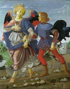 Gianni Spaggiari Andrea del Verrocchio - Tobiolo e l'angelo (1470-75) Leonardo da vinci?