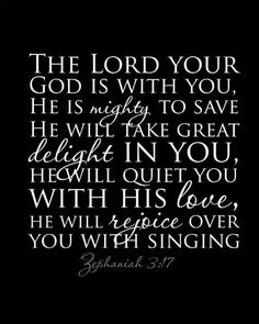 The Lord Your God Is With You.....