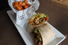 Shrimp Wrap at Stadium Sports Bar and Grill