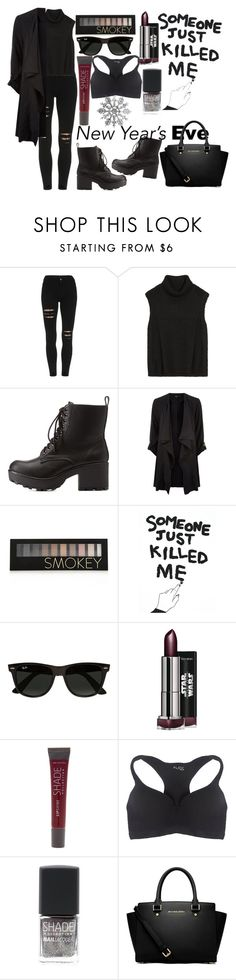 """""""Rock"""" by leticiaspenner ❤ liked on Polyvore featuring Helmut Lang, Charlotte Russe, Forever 21, House Of Voltaire, Ray-Ban, Lane Bryant, Wet Seal, MICHAEL Michael Kors and plus size clothing"""