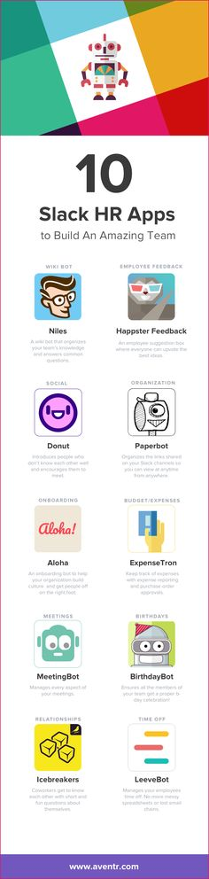 The 10 best Slack HR apps so that you can build the amazing teams your heart desires. #HR #HRtech #Work