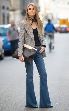 Bell Bottomed-Out from Street Style at Milan Fashion Week Spring 2016 | E! Online