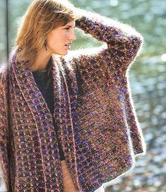 Little Squares by Sally Melville from The Knitting Experience Book 3: Color. Wow--look at the on-trend shape of this, published back in 2005!