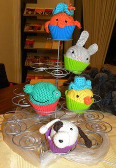Blij dat ik brei: crochet animal cupcakes
