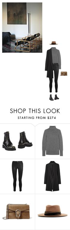 """Call It A Lesson"" by karinhadadan ❤ liked on Polyvore featuring Prada Sport, J.Crew, J Brand, The Row, Gucci and MAISON MICHEL PARIS"