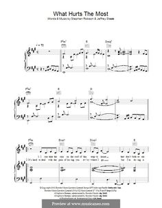 What Hurts the Most (Rascal Flatts): For voice and piano (or guitar) by Jeffrey Steele, Steve Robson