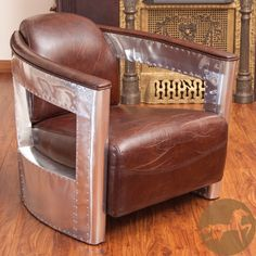 Christopher Knight Home Natasha Brown Leather and Metal Club Chair | Overstock.com Shopping - Great Deals on Christopher Knight Home Living ...