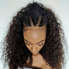 Beautiful Habesha hairstyle worn by model Jourdan Dunn