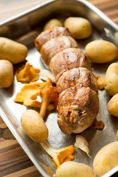 Schweinefilet mit Pfifferlingen (Filet de Porc aux chanterelles) allgemein Französisch Kochen by Aurélie Bastian