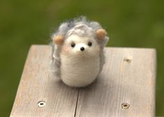 Hedgehog Miniature-Felted Hedgehog-Needle by KawaiiFeltingDesigns