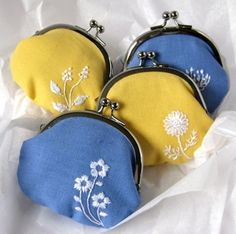Coin Purses ~ Yellow and Blue