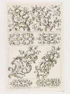 """""""Morceaux De Broderie Pour Manteaux Et Habits D'Hommes"""" / par Paul Androuet du Cerceau (v.1630-1710) / A Paris chez N. Langlois, 1670-1685 – Londres, Victoria & Albert Museum"""