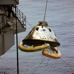 Apollo 9 recovery  Remember when astronauts returned to earth this way?