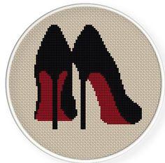 Buy 4 get 1 free ,Cross stitch pattern, Cross-StitchPDF,high heel Counted Cross Stitch Patterns, Cross Stitch Charts, Cross Stitch Designs, Cross Stitch Embroidery, Embroidery Patterns, Le Point, Cross Stitching, Pixel Art, Needlepoint