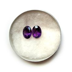 Nickel Free Cute And Simple Friendship Gift For Her 5.57 Ct Purple Oval Shape Amethyst Topaz And Cubic Zirconia 925 Sterling Silver Multi Pack Stud Earrings For Women Birthstone Month-February