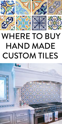 Your source for artisan, hand-painted, hand crafted tiles for design elements in your home. Ideal for kitchens, living rooms, bathrooms, and outdoor living rooms. #homedecor #design #tiles #customtiles #handpaintedtiles