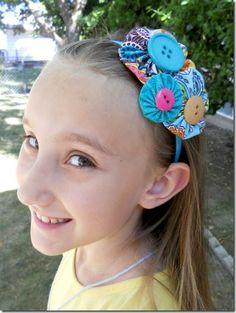 YoYo Headband Tutorial  Review: inspiration for cute hair things