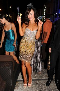 Karina Smirnoff from Dancing With the Stars rocked Jovani Style 171480 while hosting a New Year's Eve Bash at The Catalina in Miami! #DWTS #NYE #Fashion