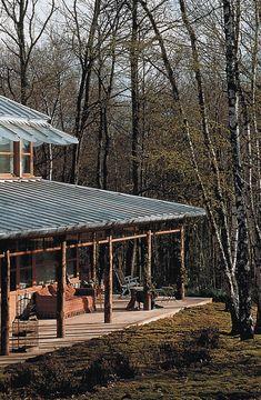 Les Chalets en bois www. Philippe Starck, Tropical Architecture, Architecture Design, Cabana, Beach Wood, My Ideal Home, House Deck, Lake Cabins, Dream Studio