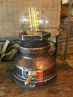 Bronze Desktop Pipe Lamp