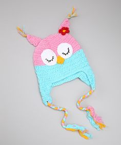 Take a look at this Pink Crocheted Owl Hat by Dress Up Dreams Boutique on #zulily today!