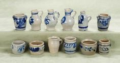 Second miniature blue and white pottery