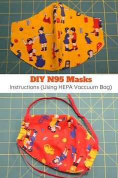 Homemade Respirator Mask Instructions (Using HEPA Vacuum Bag) - - Free pattern + instructions for how to make an anti-virus respirator mask using a HEPA vacuum cleaner bag as a filter. Diy Mask, Diy Face Mask, Face Masks, Sewing Hacks, Sewing Projects, Sewing Tips, Sewing Lessons, Sewing Tutorials, Diy Projects