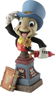 Sideshow Collectibles is proud to present the Jiminy Cricket statue from Grand Jester Studios. Tiny in stature but huge of heart, Jiminy Cricket's wits and reso Disney Statues, Disney Figurines, Arte Disney, Disney Pixar, Disney Jr, Pinocchio Disney, Cartoon Caracters, Walter Elias Disney, Jiminy Cricket