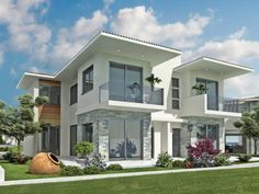 Full size of exterior small house design ideas pictures modern in indian plans new home designs Smart Home Design, Dream Home Design, New Home Designs, Duplex House Design, Small House Design, Modern House Design, Modern Exterior, Exterior Design, Exterior House Colors Combinations
