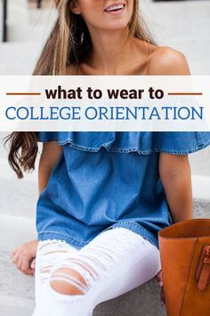 College orientation is an exciting time to meet new people, tour your new campus, and have fun! Finding something to wear can be both time consuming and confusing. So here are a few tips on what to wearto college orientation. Daytime Aim for comfort....