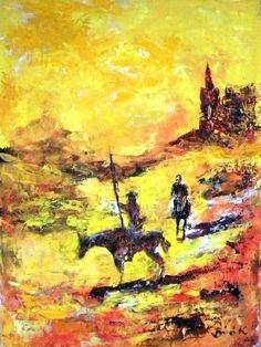 Don Quixote  Konrad Biro art