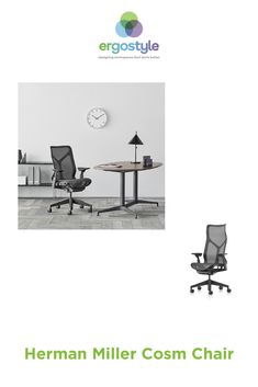 With its sophisticated ergonomic design, the Cosm Chair instantly responds to your body, providing natural movement and posture support. The comfort of the Cosm is unique, so much so, you may even forget you are sitting in an office chair. Office Furniture, Furniture Design, Posture Support, Chair Price, Hard Floor, Forget, Flooring, Interior Design, Natural