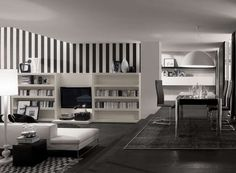 Black-Wall-Stripes-Living-Room-Interior