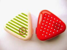 Products From Japan With Love: Onigiri Rice Ball Case and Mold Set Stripes and Do...