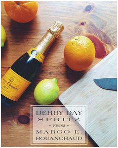 A Derby Day Spritz: While the mint julep is the long-favored king of Derby drinks, sometimes we do prefer a lighter libation. Enter TSG: Baton Rouge editor Liz Raney—straight from the heart of Dixie–who shared caterer extraordinaire Margo E. Bouanchaud's recipe for an Orange-Mint Spritz.