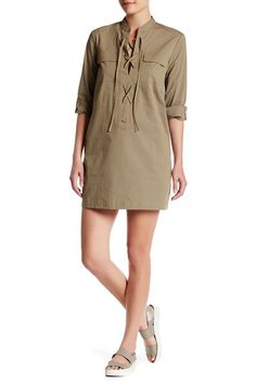 Juliettah Lace-Up Shift Dress by Theory on @nordstrom_rack