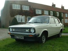 Morris Marina, another one, four doors this time in dark green - letters on the reg WFW