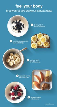 Stick to your workout plan with these quick and easy pre-workout snacks!