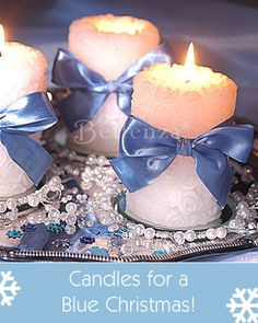 Candles for a sparkling table during the holidays!  #holidaydecorations #candledecorations #christmas